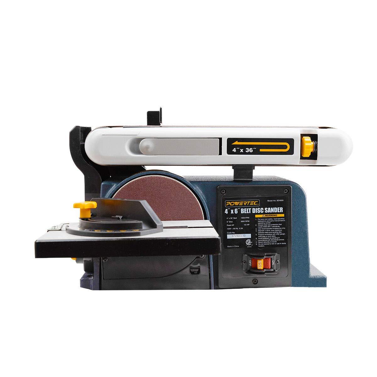 Powertec Bd4600 Woodworking Belt Disc Sander 4 X 6 Inch