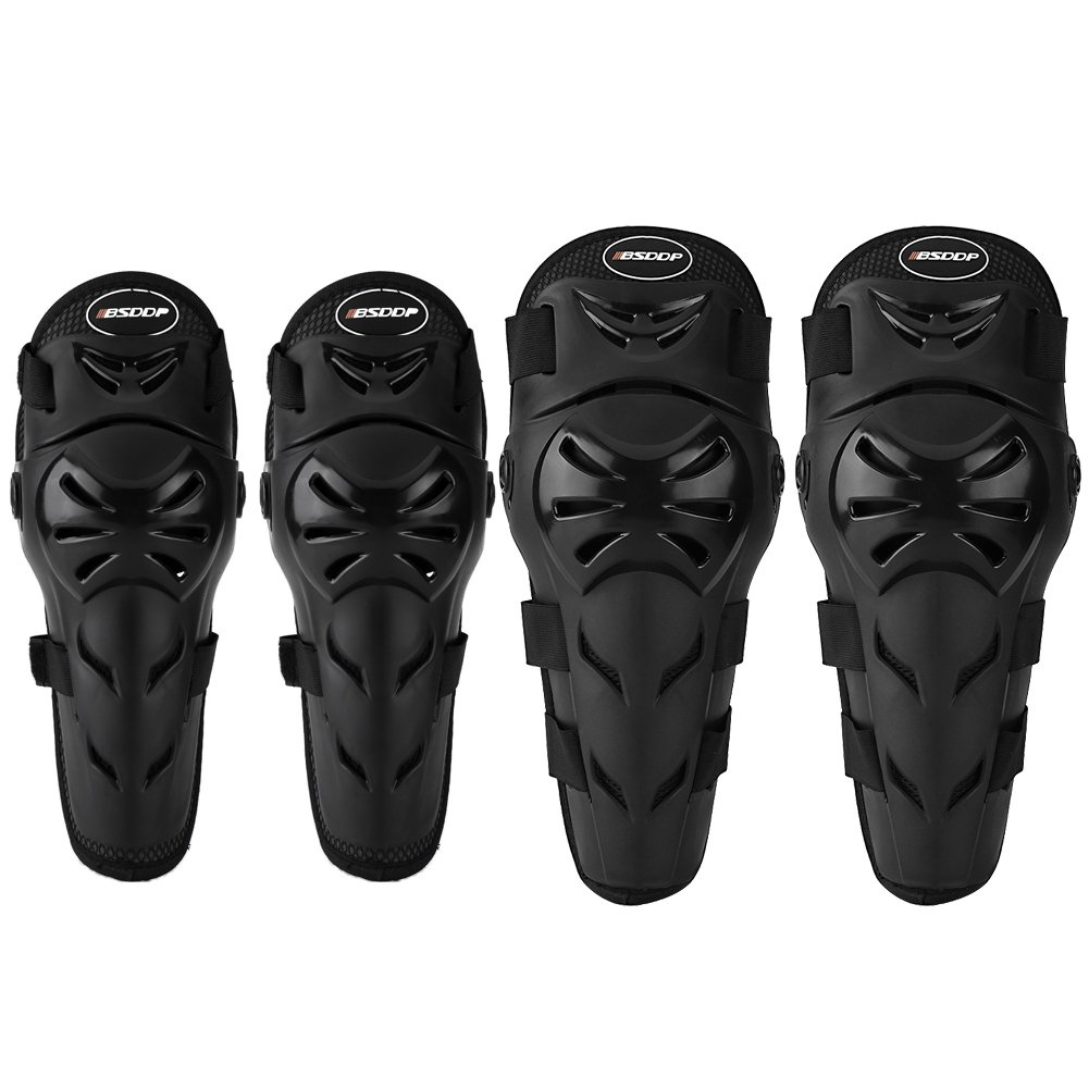 Acouto BSDDP 4pcs Motorcycle Elbow Knee Pads Wrist Protective Gear Protector Guard Set for Cycling Running Sports Skateboarding Snowboarding Biking Bicycle Scooter Workout Tennis Anauto