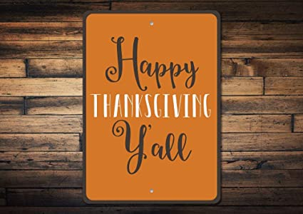 Happy Thanksgiving Yall >> Amazon Com Thanksgiving Sign Thanksgiving Decor Happy