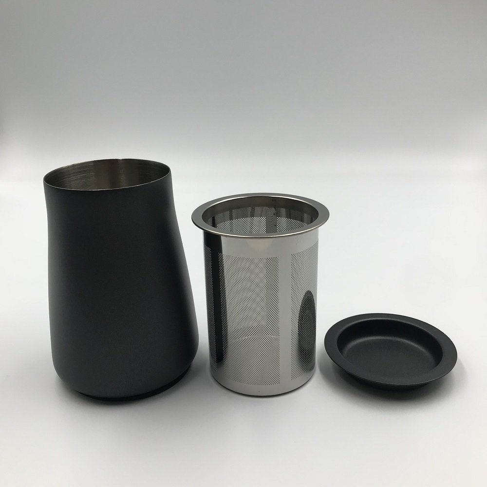 Easycomf Coffee Sieve Screener Powder Mesh 304 Stainless Steel Fine Filter Cup Coffee Powder Scent Cup Grinding Machine Accessories Can (Teflon Surface(Black Color))