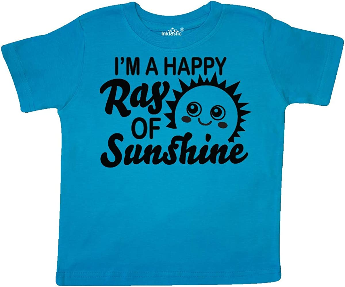 inktastic Im a Happy Ray of Sunshine with Happy Sun Toddler T-Shirt