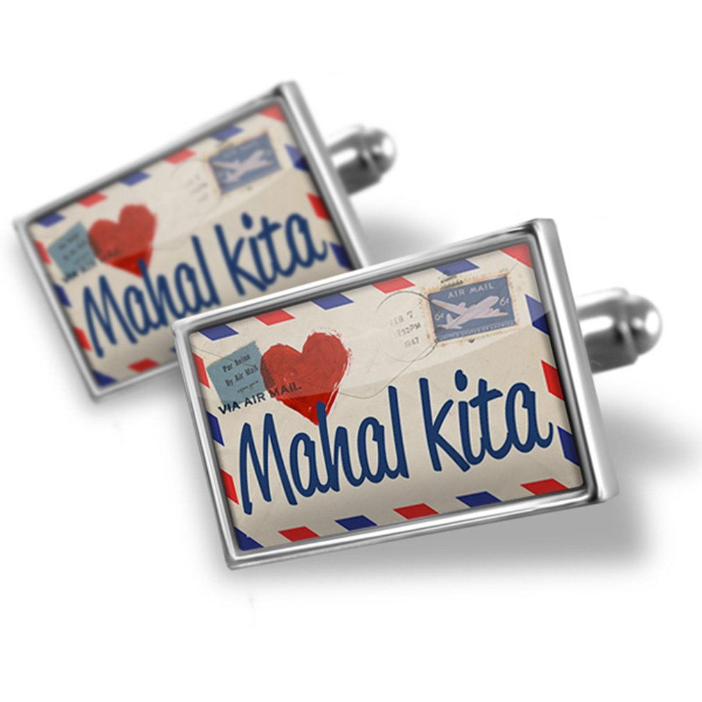 Cufflinks I Love You Filipino Love Letter from the Philippines - Neonblond
