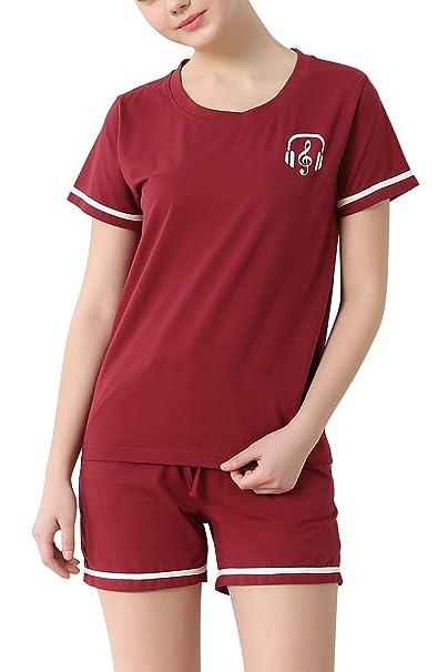 Dolamen Pijamas para Mujer, 2018 Pijamas Mujer Primavera Verano, Mujer Raya Camisones Pijamas de