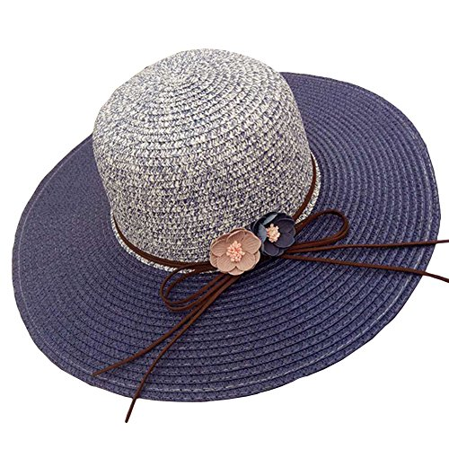 AMAZZANG-Vintage Women Church Wide Brim Flora Flower Hat Party Beach Sun Visor Fedora Cap - Replica Tom Ford
