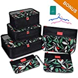 Packing Cube 6 Set Lightweight Travel Luggage Organizer with Durable Zippers