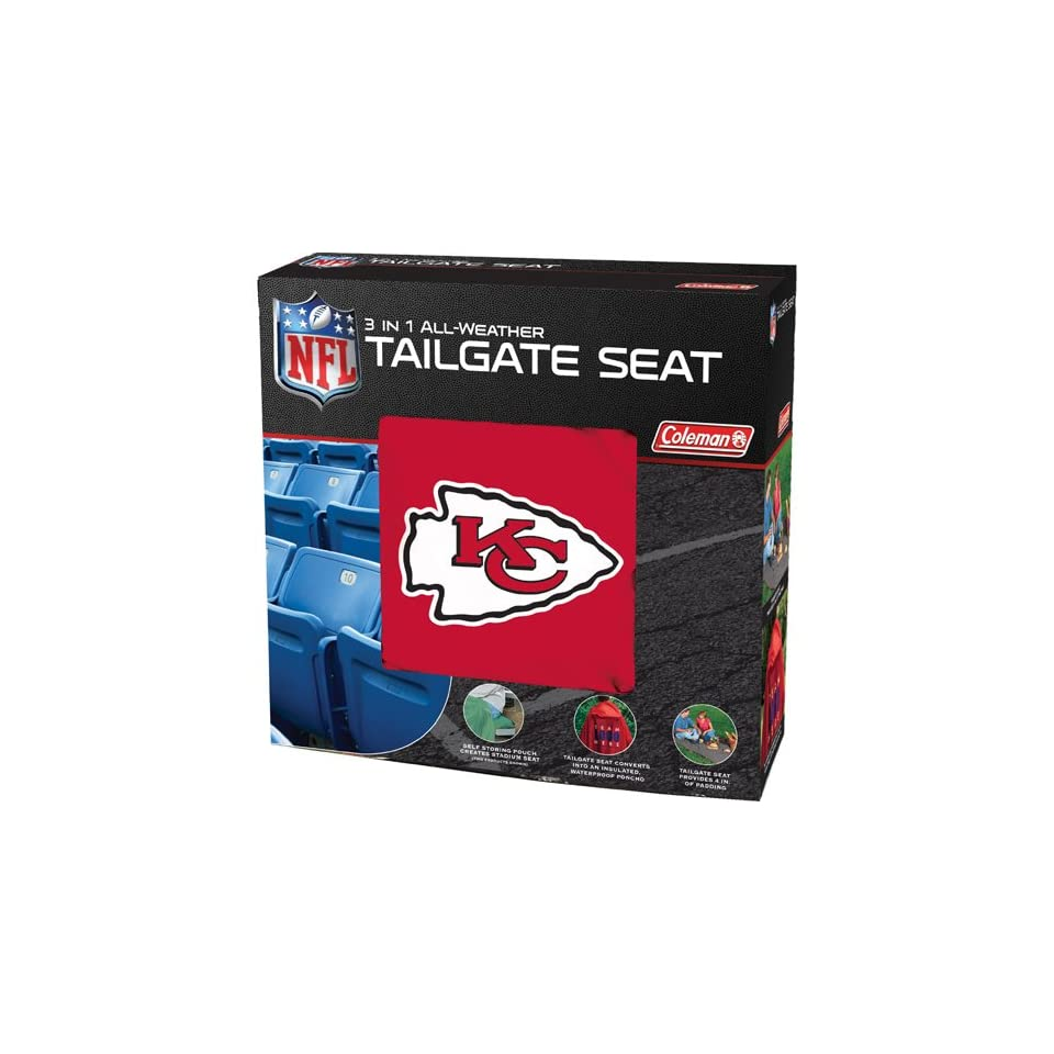 BSS   Kansas City Chiefs NFL 3 in 1 All Weather Tailgate Seat and Poncho