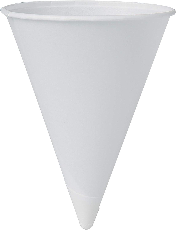 B0040ZOVYW Solo 42BR-2050 4.25 oz White Paper Cone Cups (Case of 5000) 61ynm2BhdDFL.SL1500_