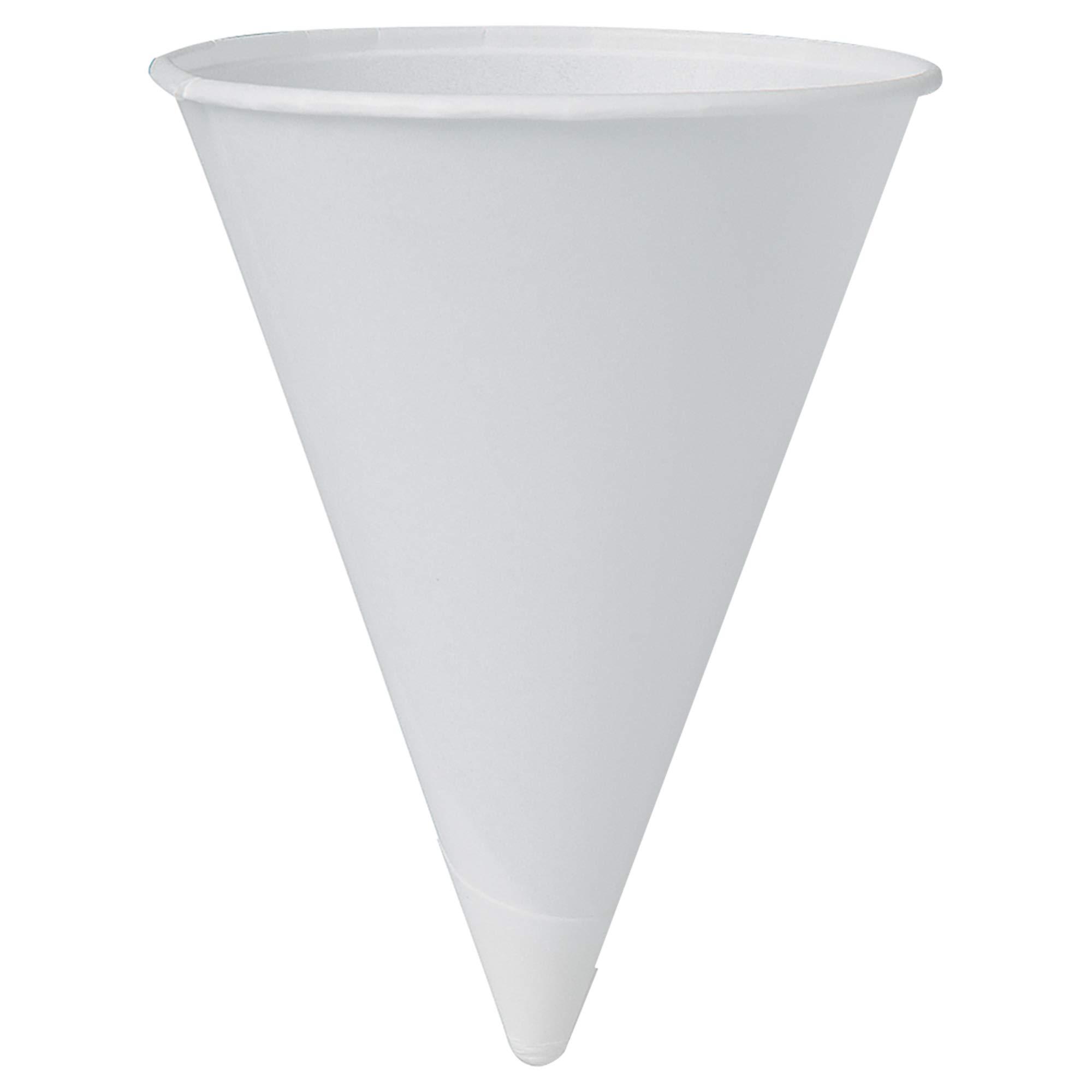 Solo 42BR-2050 4.25 oz White Paper Cone Cups (Case of 5000)