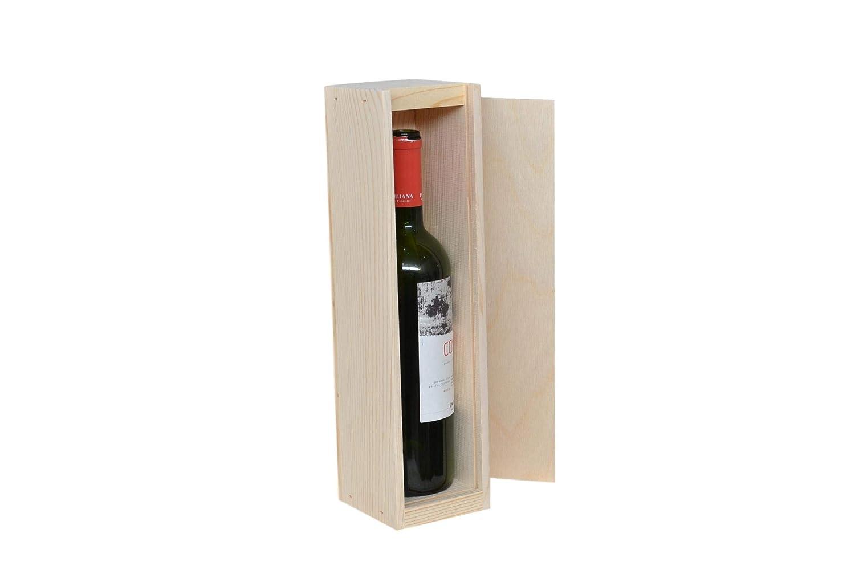 Dos cajas de botella grandes o de champán con parte superior ...
