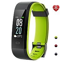 YAMAY Fitness Tracker,Wasserdicht IP68 Fitness Armband mit Pulsmesser 0,96 Zoll Farbbildschirm Smartwatch Aktivitätstracker Pulsuhren Schrittzaehler Uhr Smart Watch Fitness Uhr für Damen Herren