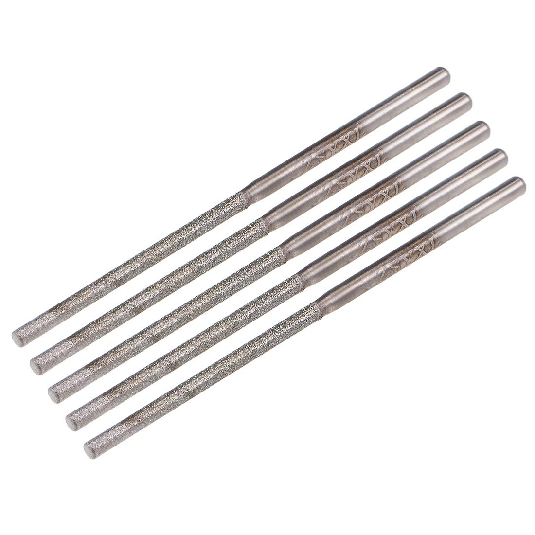 uxcell Diamond Burrs Bits Grinding Drill Carving Rotary Tool for Glass Stone Ceramic 150 Grit 1//4 Shank 10mm Cylinder Ball Nose 5 Pcs