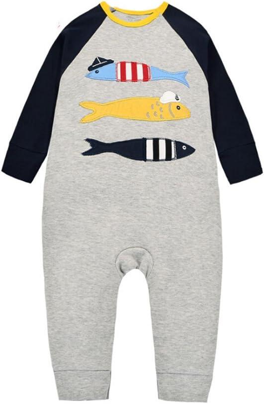 CuteOn Bambino piccolo Bambino Ragazzo ragazza Cotone Body pagliaccetto biancheria da notte Pigiama Outfits Costume Pesce 3 Mesi