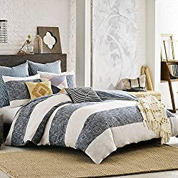 Kas Australia South Hampton King Duvet Cover, Blue Ivory