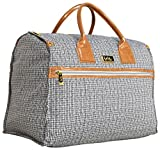 Nicole Miller New York Rosalie Collection Weekender Carry On Box Bag (Taylor Black/White Plaid)