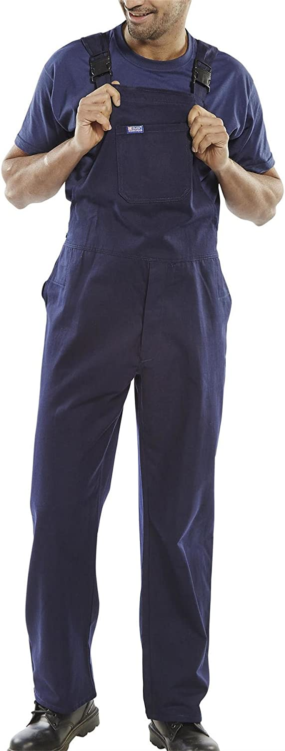 Rimi Hanger Mens Cotton Drill Bib and Brace Work Trousers Overalls 32 to 48 Inch