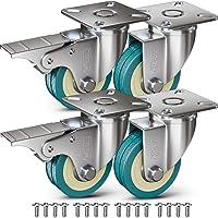 GBL® 4 Zwenkwielen 50mm + Schroeven | Zwaarlastwielen 200KG - Zwenkwielen Voor Meubels | Zwenkwieltjes voor een Trolley…