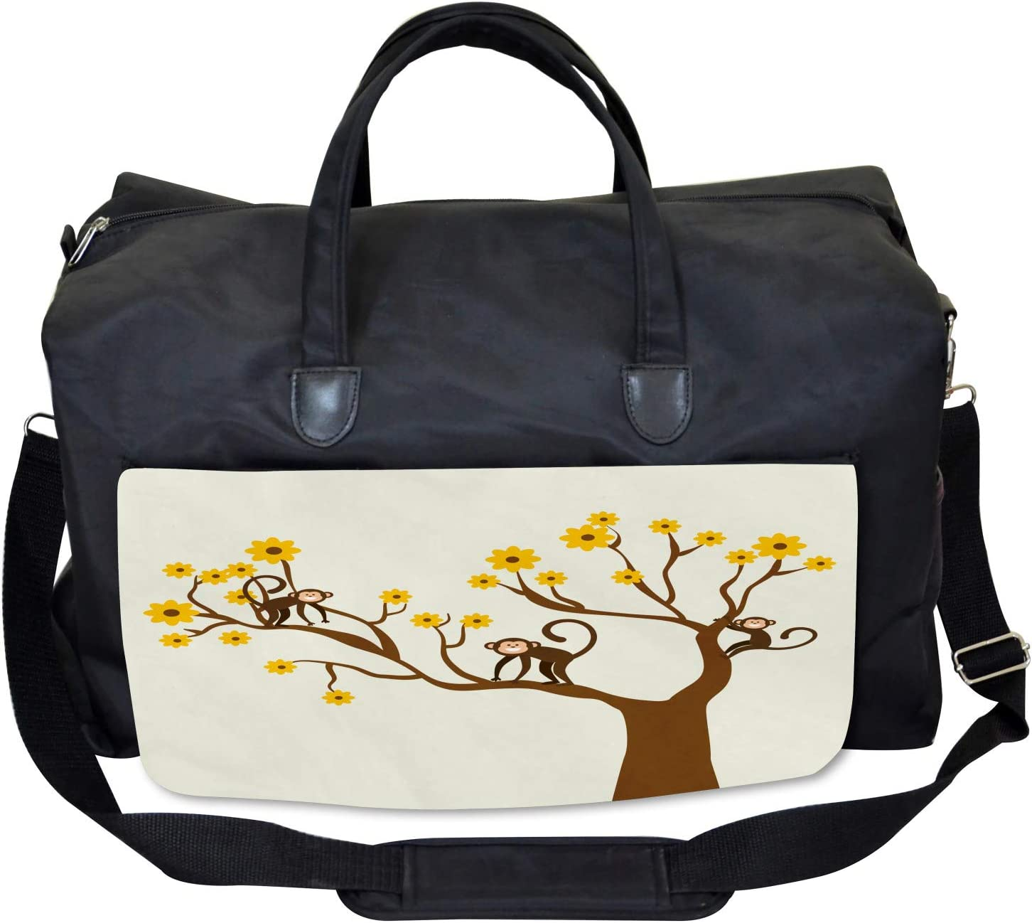 Ambesonne Funny Gym Bag Climbing Cute Kids Fun Large Weekender Carry-on