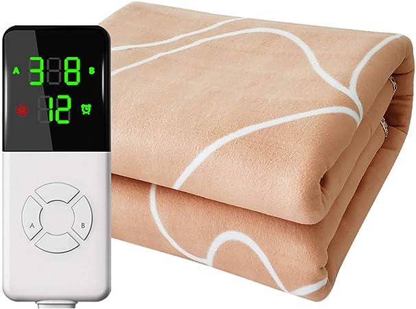 Manta De Calefacción Eléctrica - Con 9 Niveles De Calefacción Y Función De Cierre Automático - Para Dormitorio, Manta De Calefacción Suave Con Calefacción Rápida - Evita Fugas De Electricidad: Amazon.es: Hogar