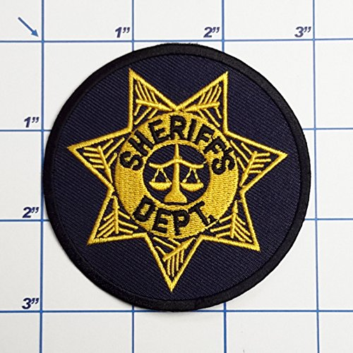 (SNOW - 1 PC US Police Patches - Full Size Embroidered Iron-On Patch Series - Sheriff's Dept 25)