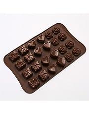 Askcut Moldes para hacer dulces de chocolate, corazón, rosa, caja de regalo de