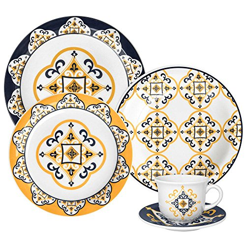 Oxford Bone China - Oxford 20 Piece San Luis Collection Daily Dinnerware Set