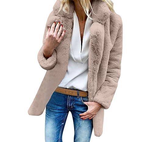 Mujer abrigo Invierno,Sonnena ❄ abrigo para mujer peludo Caliente cárdigan casual Al aire libre