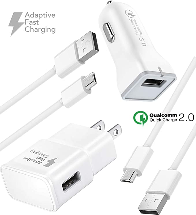 Ixir Quick Charge Travel Rapid Charger Set for LG V10 Quick Travel Wall Charger Set, LG G2, LG G3, LG G4, G Flex X Power Type C Fast Charger, Wall