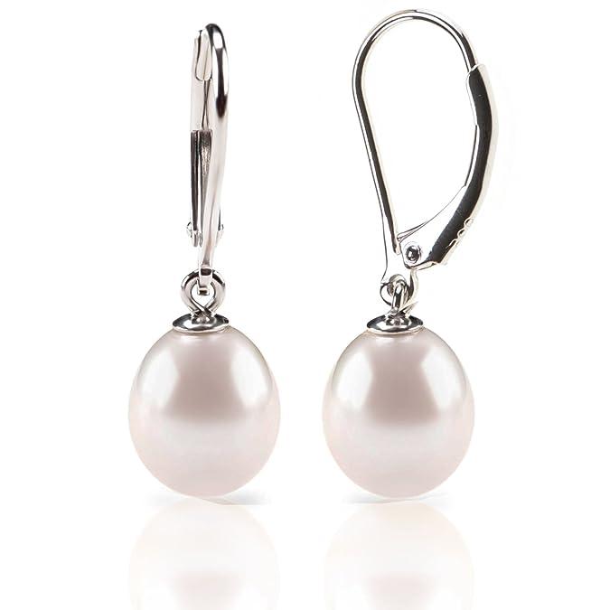Amazon.com: PAVOI aretes de perlas cultivadas de agua dulce ...