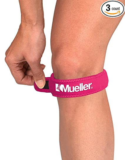 d66e8a4efa Amazon.com: Mueller Jumpers Knee Strap, Pink, One Size Fits Most ...
