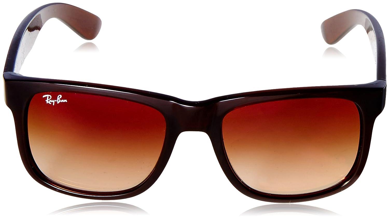 1c232fb49f RAYBAN Men's 0RB4165 714/S0 51 Sunglasses, Brown Gradient Mirror Red:  Amazon.co.uk: Clothing