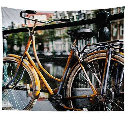(Westlake Art - Wall Hanging Tapestry - Bike Fence - Photography Home Decor Living Room - 26x36in)