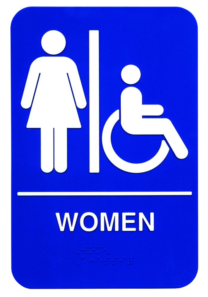 mise à jour International (S69b-1bl)'Femme' accessible braille Sign Update International
