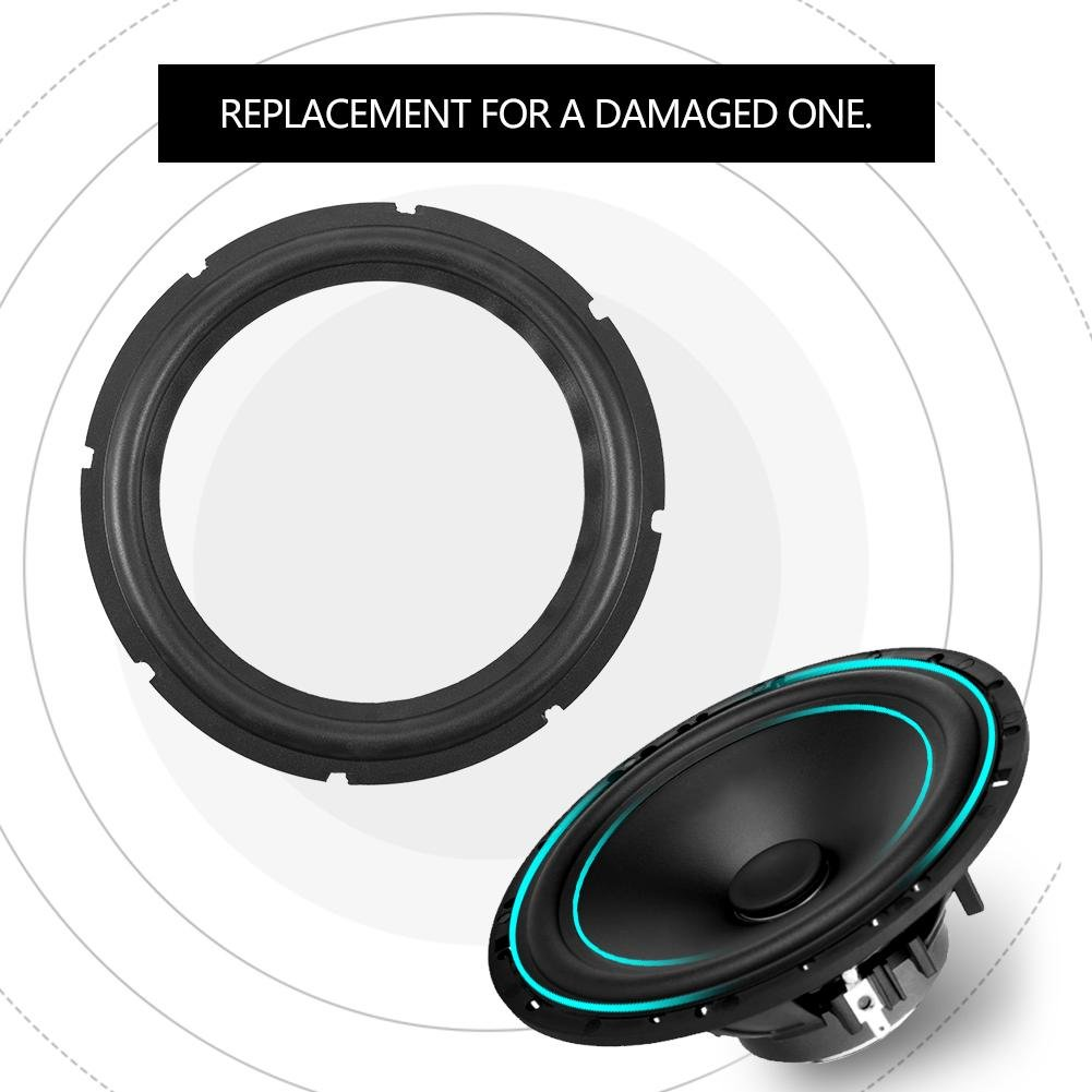 2 PCS 10inch Loudspeaker Speaker Surround Repair Rubber Woofer Edge Repair Parts
