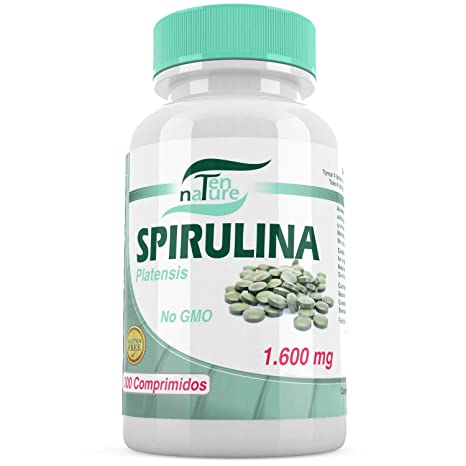 Espirulina orgánica 400mg | 300 comprimidos | 1600mg/día | Microalga Spirulina Platensis | Calidad