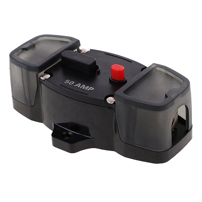 150A Homyl 50A bis 300A Automatiksicherungshalter Automat Schalter 12V 24V f/ür Auto Boot