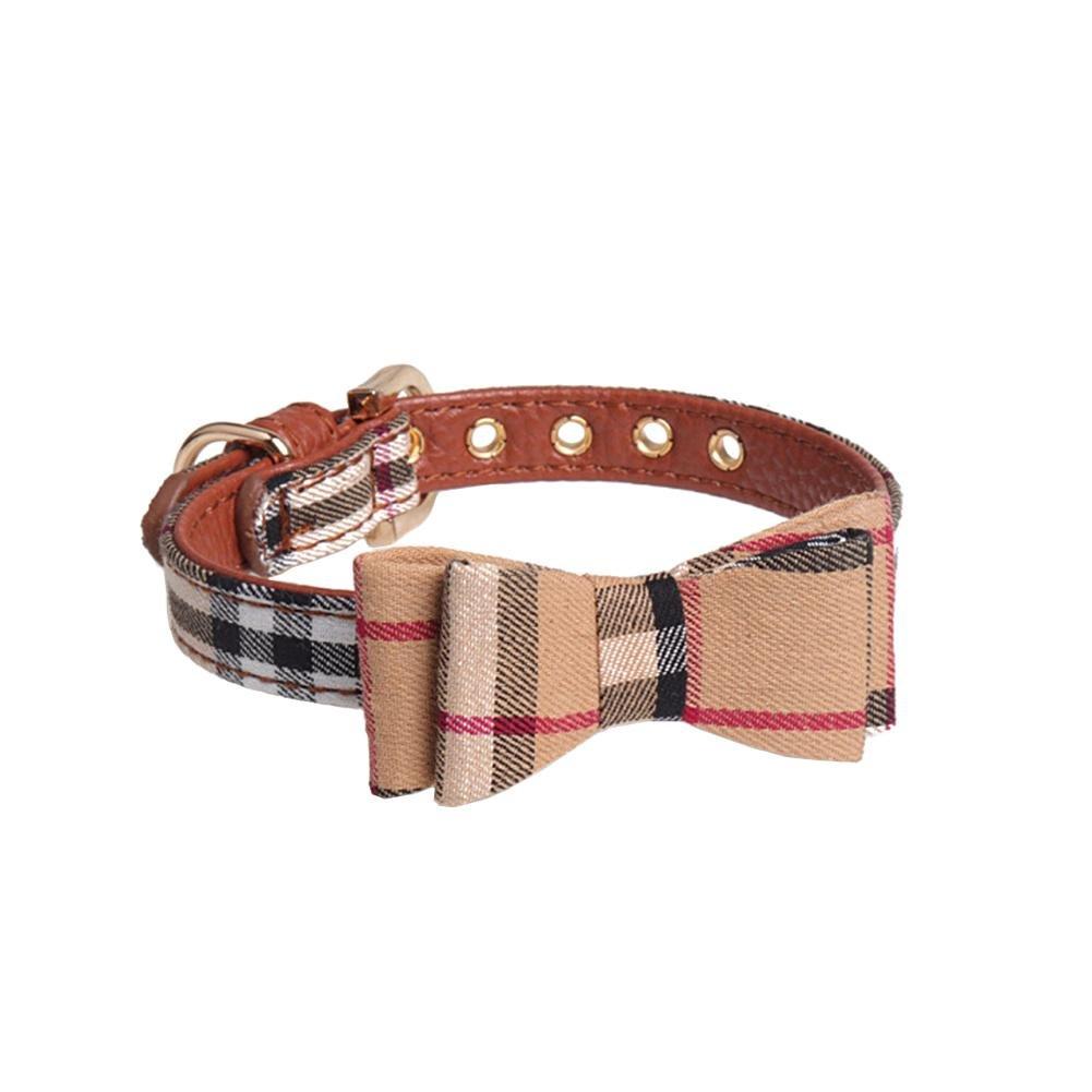 Noeuds papillon pour chien chat fait à la main, Triangle de chien Ensemble de à carreaux style écossais,Confortable à porter Prom-near