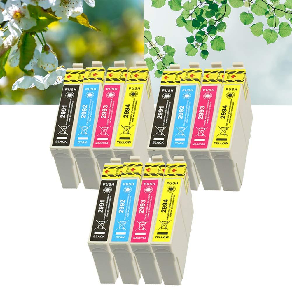 Ouguan® 12x Cartuchos de Tinta Epson 29 XL Compatibles con Epson XP-255 XP-245 XP-342 XP-442 XP-235 XP-257 XP-345 XP-332 XP-247 XP-445 XP-432 XP-335 ...