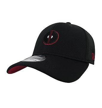 Deadpool Logo New Era 39Thirty Fitted Cap Black at Amazon Men s ... bfa9a2c7b70