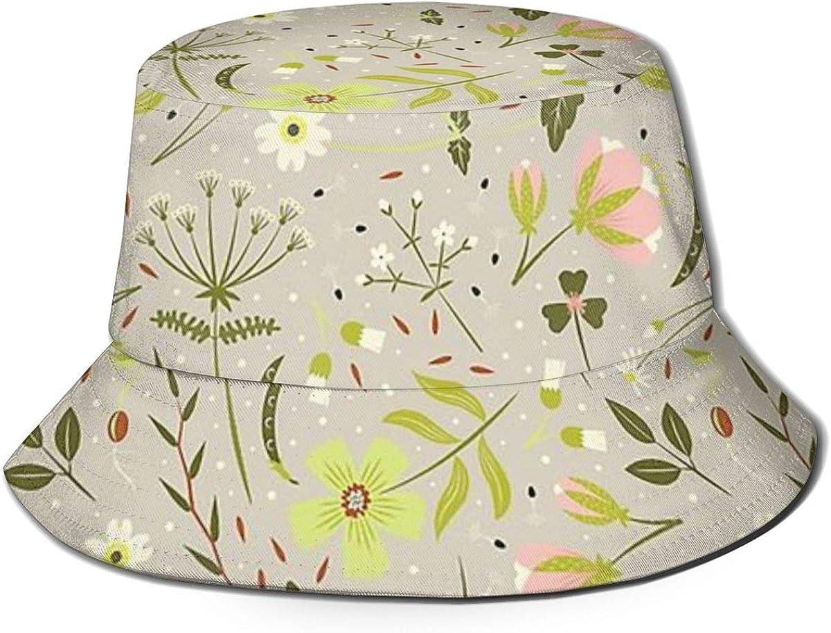Flowers Butterflies Butterfly Soft Bokeh Camping Hiking Fisherman Hat Sun Hat Unisex Leisure Sunscreen Bucket Hat.