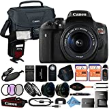 Canon EOS Rebel T6i 18MP Digital SLR Camera Retail Packaging 24 Piece Bundle (18-55mm IS STM)