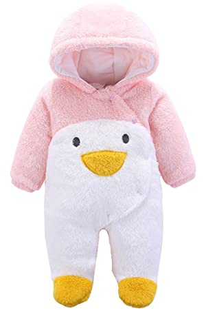 54abb2d54 KINDOYO Newborn Baby Girls & Boys Fall / Winter Plush Snowsuit Romper Infant  Faux Fur Animal