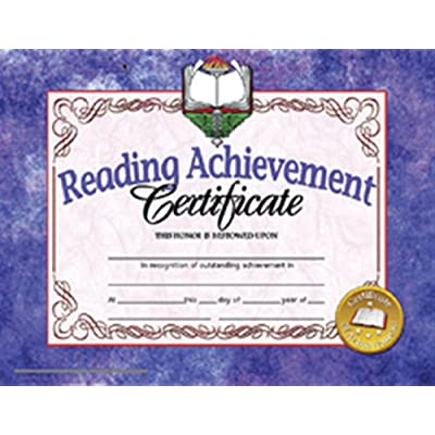 Hayes Reading Achievement Certificate, 30 Per Pack: Office Products