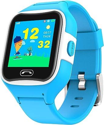 Deber Reino Barra oblicua  Reloj teléfono y localizador GPS para niños V2 (Azul): Amazon.es: Relojes