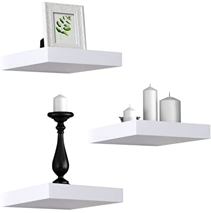 Amazon.com: Sorbus Floating Shelves — Solid Square Shaped Hanging ...