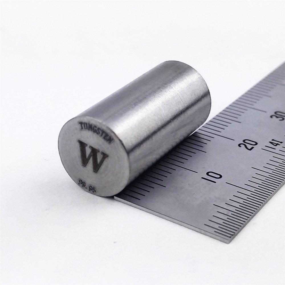 Tungsten Metal Rod 99.95% 30g min. 10diameterx20mm length Element W specimen Chinaium