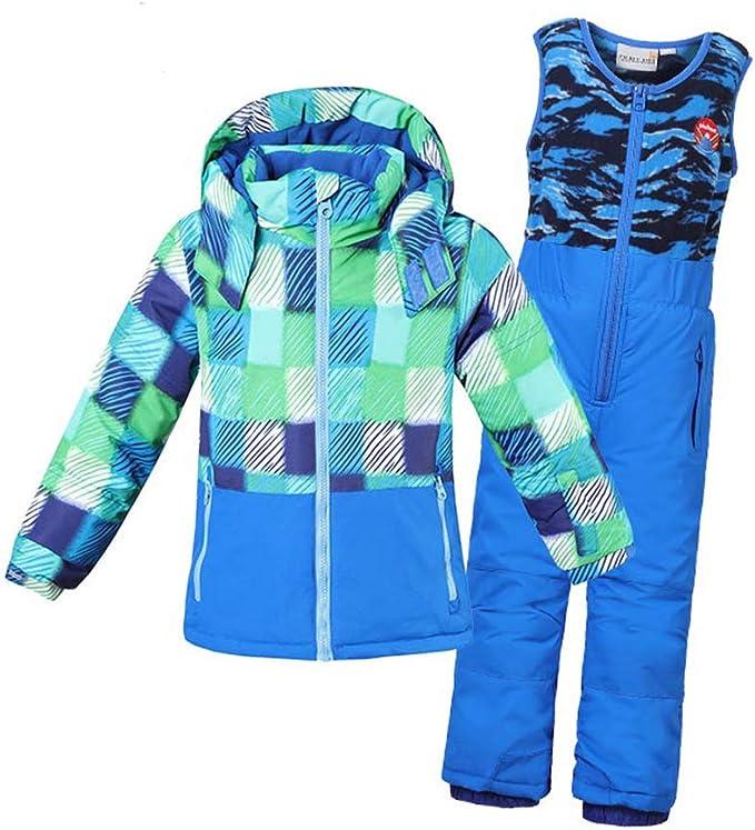 LSERVER Veste de Ski Enfant Pantalon de Ski
