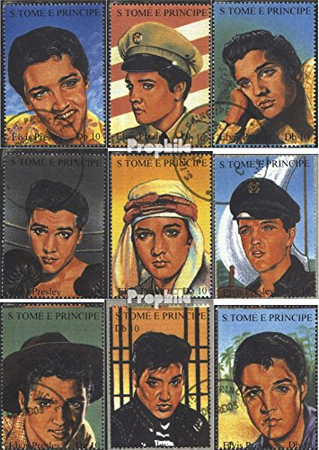 Sao Tome e Principe 1473-1481 1994 Elvis Presley (Stamps for Collectors) Music/Dance ()