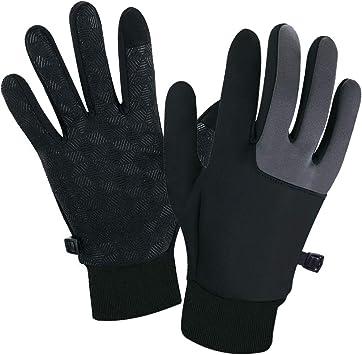 Winter Unisex Touch Screen Windproof Waterproof Outdoor Driving Gloves Black