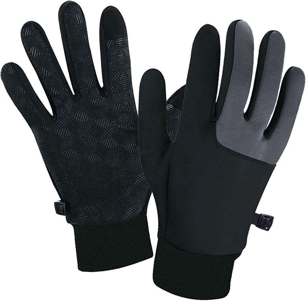 SUOYANA Winter Gloves Touch Screen Gloves Warm Waterproof Windproof Full Palm Non-Slip Lightweight for Women and Men Running,Walking,Cycling,Driving in Cold Weather