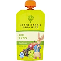 Peter Rabbit Organics, Organic Apple and Grape 100% Pure Fruit Snack, 4 Ounce Squeeze Pouches (Pack of 10)